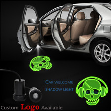 2 pcs Rock Music Skull Car Door Welcome Courtesy LED Laser Ghost Shadow Lights