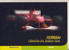 """21 Folder filatelico """" FERRARI CAMPIONE DEL MONDO F1 """" - 2001"""