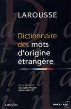 Dictionnaire Larousse Des Mots D'Origine Etrangere - B