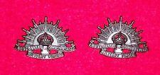 RISING SUN COLLAR BADGES  WW1-WW2 AUSSIE - REPRODUCTION PAIR