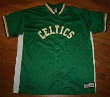 Boston Celtics Jacket Shooting Warm-up Snap Men's 2XL Hardwood Classics Majestic