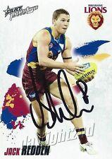 ✺Signed✺ 2010 BRISBANE LIONS AFL Card JACK REDDEN