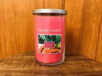 Yankee candle Fresh Guava & Papaya large glass jar tumbler 2-wick  22 oz new