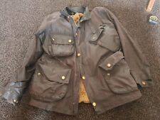Barbour Beacon Waxed Jacket With Fur Liner Medium