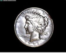 1921 Silver High Relief Peace Dollar Great Detail  #1X1000