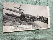 m10a ephemera ww1 picture british r e s aeroplane crash boesinghe