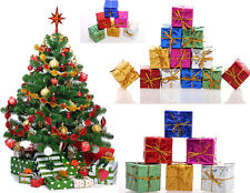 HOT Newest Christmas Tree Ornaments Xmas Tree Hanging Gift Box Decoration 12X