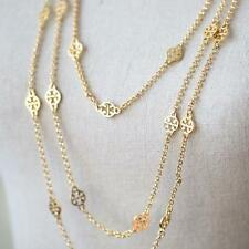 """TORY BURCH NEW GORGEOUS LOGO """"T"""" LONG MULTILAYER CHAIN NACKLACE"""