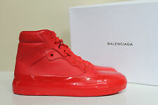 New sz 9 US / 42 Balenciag Red Leather High Top Fashion Sneaker MEN Shoes