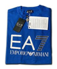 Men's EA7 Emporio Armani Crew Nack Short Sleeve T- Shirts Blue Size: Large  !!!