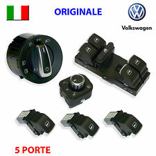 6 Pulsanti VW GOLF 5 6 V VI PASSAT ORIGINALI pulsantiera devioluci tasti