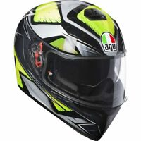 CASCO INTEGRALE AGV K3 K-3 SV MULTI - LIQUEFY GREY - YELLOW FLUO  TAGLIA L