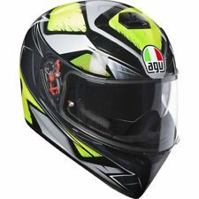 CASCO INTEGRALE AGV K3 K-3 SV MULTI - LIQUEFY GREY - YELLOW FLUO  TAGLIA XL