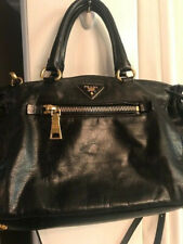 Authentic Prada black leather handb
