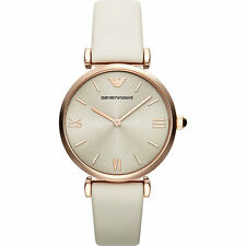 USED EMPORIO ARMANI AR1769 LADIES ROSE GOLD GIANNI T-BAR WATCH - 3 MONTHS OLD