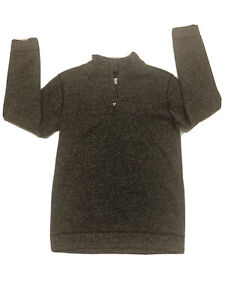 Old Navy Boys Pullover Sweater Heather Gray 1/4 zip stand up collar Sz 14-16