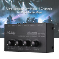 Muslady MX400 Ultra-compact Low Noise 4 Channels Line Mono Audio Mixer with Y1I5