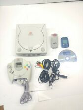 Sega Dreamcast  White Console HKT-3020 & Controller Tested Works Tetris Rumble