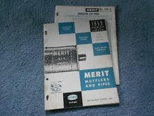 VINTAGE 1959 MERIT EXHAUST MUFFLERS PIPES CATALOG No. 120 & PRICE LIST ORIGINAL