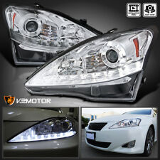 For 2006-2009 Lexus IS250 IS350 LED DRL+Turn Signal Strip Projector Headlights