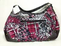 New Woman's double patterned Pink Med Size Fashion Handbag Tote Purse     PRS114