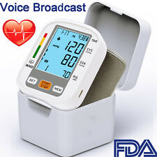 Automatic Digital Wrist Blood Pressure Monitor BP Cuff Voice Broadcast Machine