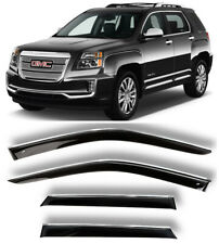 Chrome Trim Side Window Visors Guard Vent Deflectors For GMC Terrain 2009-2017