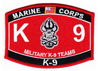 MARINE CORPS MILITARY K9 TEAMS MOS PATCH CANINE MP DOG HANDLER POLICE USMC