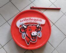 COLLECTOR ,rare enseigne d'épicerie la vache qui rit double face arabe français