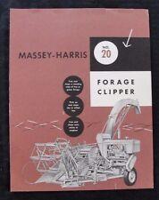 GENUINE 1954 MASSEY HARRIS No. 20 FORAGE CLIPPER BROCHURE GOOD SHAPE
