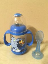 New ListingVintage Nuby Infant Feeder Bottle Baby Cereal Baby Food 4oz With Spoon Blue
