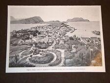 Veduta della città di Aalesund prima dell'incendio del 1904 Norvegia