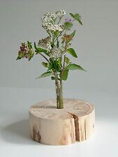 Einzigartige, dekorative Holzvase - NaturPur - rund - geschliffen