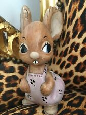 More details for vintage rare pendelfin pink bunny 🐰 collectable