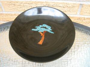 "Vintage * COUROC * Bakelite MONTEREY CYPRESS ""TREE"" Pattern 7-3/4"" Bowl  MCM"