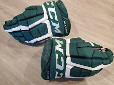 Pro Stock Hockey Gloves Game Used All Star Green Ccm 13 Jack Connolly Farjestad