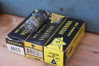 TESTED Vintage Sylvania radio tube LOT OF 3 6BC5 Radio Electronic Vacuum w box