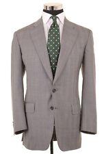 Paul Stuart x ISAIA Gray Glen Plaid Check 100% Wool Sport Coat Jacket 41 L