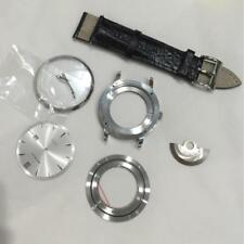 leather strap waterproof  fit eta 2824 movement watch case set repair parts