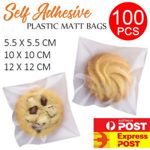 100PCS Matte Self Adhesive Plastic Matt Bags Jewellery Lolly Cookies Candy Party