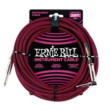Ernie Ball 25' Braided Instrument Cable, Red P06062