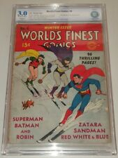 WORLDS FINEST COMICS #4 CBCS 3.0 RESTORED OFF WHITE TO WHITE PGS DC NOT CGC (SA)