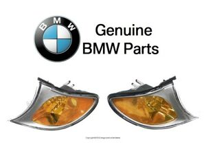 For BMW E46 3-Series Front Left & Right Turn Signal Light Assemblies Genuine