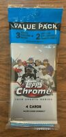 NEW 2020 Topps Chrome Update Cello 3 Packs Factory Sealed Luis Robert Qty Pinks