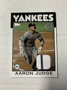 2021 Topps Series 1 Aaron Judge 1986 Relic New York Yankees Pinstripe