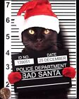 Black Kitten Cat Bad Santa Hat Police Lineup Funny - Christmas Greeting Card NEW