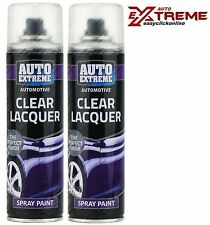2x Clear Lacquer Car Bike Interior Exterior Plastic Wood Metal Spray Paint 250ml