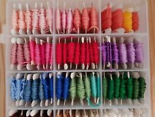 Vintage Embroidery Threads Box Rainbow Assorted Colours