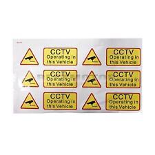 6x CAR CCTV Sticker Decal Sign Security Surveillance Warning Notice Camera