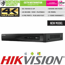 Hikvision 4 Channel H.265 Ultra HD 4K UHD NVR 8MP 4 PoE 4CH CCTV Video Recorder
